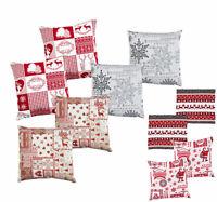 2er Pack Dekokissen Christmas Weihnachten abnehmbarer Bezug weihnachtlich 38x38