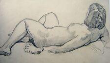 Estudio de la figura reclinada desnuda con Reloj Lápiz Eng SCH C1930