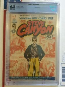Steve Canyon 1_CBCS 6.5_like CGC_origin Steve Canyon_Milt Caniff_HTF!_OWW pages