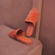 cadc866a4d0 NIB Vince Bartley 2 Italian Suede Leather Slide Sandal Mule Rust Size 6