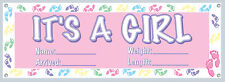 "60"" x 21"" It's a Baby Girl Welcome Home Baby Shower Announcement Indoor Outdoor"