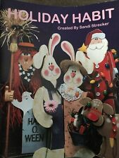 1996 Holiday Habit By Sandi Strecker Tole Painting Craft Book And Patterns