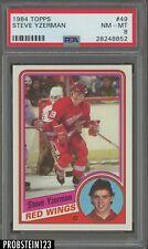 1984 Topps #49 Steve Yzerman Red Wings RC Rookie HOF PSA 8 NM-MT