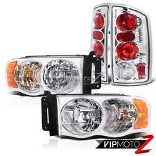 02-05 Dodge RAM 1500/2500 Pickup Truck Diamond Chrome Clear Headlight+Tail Lamp