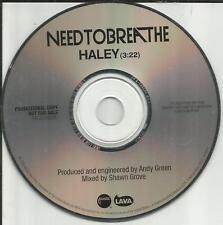 NEEDTOBREATHE Need to Breathe Haley RARE 2006 USA PROMO Radio DJ CD single MINT