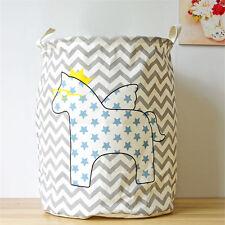 Horse Toys Storage Large Laundry Washing Clothes Basket Bin Hamper with Handles