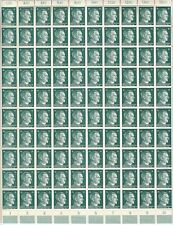 Stamp Germany Mi 790 Sc 513 Sheet 1941 WWII Fascism War Era Hitler Hitler MNH