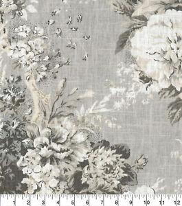 Waverly Ballad Bouquet Blend Platinum Linen  8 yards
