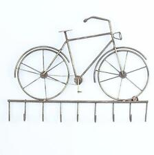Brass metal bicycle wall hooks home shabby vintage chic gift bike keys holder