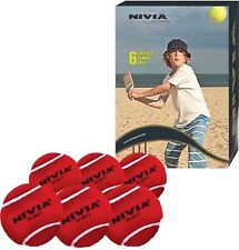 Nivia Heavy Weight Cricket Tennis Ball Red (Pack of 6)
