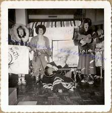 1940s Costume Women Annie Oakley Calamity Jane Eskimo Parka Gibson Guitar Photo