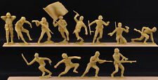 Marx Vintage WWII Pacific Japanese - 1960s 12 in all 12 poses Toy Soldiers