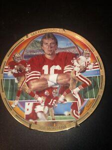 Joe Montana - Finding A Way To Win - Collectors Plate Hamilton Collection 8 1/2