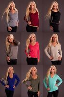 New Sexy Women Clubbing Pullover V-Neck Party Top Ladies Jumper Size 6 8 10 12 S