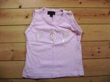 @paglie@ Bonita camiseta sin mangas rosa con lentejuelas talla 110/116 Edad 5-6