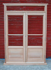 Hardwood 4 panels French doors with top light!!! Made to measure!!! Bespoke!!!