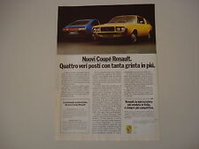 advertising Pubblicità 1976 COUPE' RENAULT 15 - 177