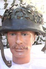 Casque lourd Français Modèle 51 avec bandeau pneu et couvre casque feuillage