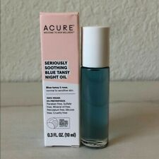 Acure Seriously Soothing Blue Tansy Night Oil Travel Size 0.3oz/10ml Vegan BNIB