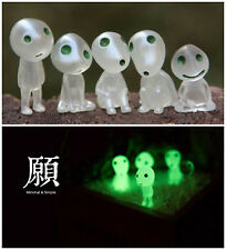 Anime Princess Mononoke Forest Spirit Elf Kodama Figures Glow in dark 5PC Set