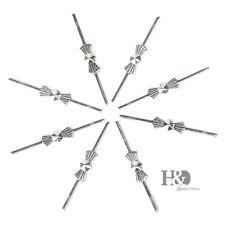 300PCS Silver Metal Pins Connectors Chandelier Crystal Prisms Part Bowtie 35mm
