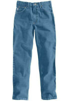 NEW Carhartt Mens Relaxed Fit JEANS Five Pocket Tapered Leg Jeans B17 SIZE 32x38