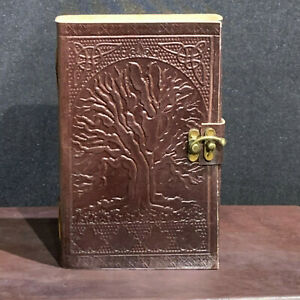 *TREE OF LIFE* Leather Journal, Notebook, Diary, Travel Book. Handmade Unique