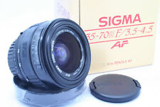SIGMA 35-70 mm F 3.5-4.6 UC ASP For Pentax AF Zoom lens objectif New in box!