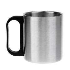 Stainless Steel Double Wall Coffee Mug Camping Travel Picnic Cup with Handle