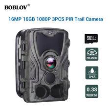 BOBLOV HC801A 16MP 16GB Hunting Night Vision Camera IP65 Waterproof Wildlife Cam