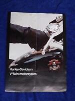AMF HARLEY DAVIDSON SALES BROCHURE V-TWIN MOTORCYCLES XL-1000 FXE-1200 FLH-1200