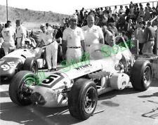 "1964 USAC Indy Car racing vintage photo 8""x10"" Jud Larson & team, Bobby Grim"