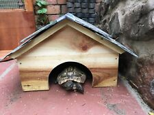 Larch Tortoise Guinea Pig house out door home shelter with welsh slate roof