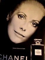 1974 Chanel No 5 Cologne Catherine Deneuve -Original Print Ad.8.5 x 11""
