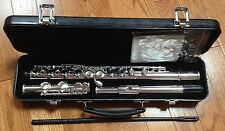 NEW JZ MUSICAL OXFORD STUDENT FLUTE WITH CASE & WARRANTY, C FOOT, CLOSED HOLE