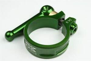 KCNC SC10 QR Seatpost Clamp Ti Axis Green 34.9mm