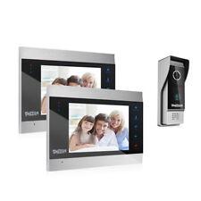 TMEZON Video Türsprechanlage Türklingel Intercom System 7 Zoll 2-Monitor Kamera