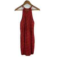 Totem Womens Dress Size Small Petite Red Sleeveless Blouson Round Neck