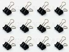 20 X 15mm Acero Negro Papel Clips Foldback oficina documento Bulldog De Metal