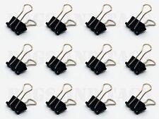 24 X 15mm Acero Negro Papel Clips Foldback oficina documento Bulldog De Metal