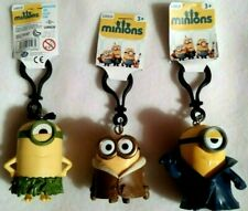 3x Minions - 3D Schlüsselanhänger -  Stuart + Bob - Figuren