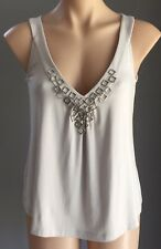 "SABA ""Evie"" Silver Dove Grey Sleeveless Tank Top Size 8 -  New With Tags"