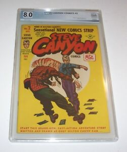 Steve Canyon #2 - 1948 Harvey Golden Age Issue - PGX VF 8.0
