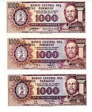 Paraguay ... P-207 ... 1000 Guaranies ... L.1952(1982) ... *UNC*