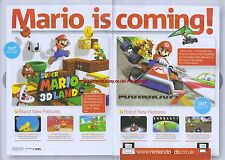 "Super Mario 3D Land ""Nintendo 3DS"" 2012 Magazine 2 Page Advert #5025"