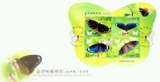 Butterflies Taiwan 2011 Insect (miniature FDC) *odd shape *unusual