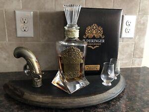 H Derringer Bourbon Barrel Display W Replica Gun And Glasses + Box