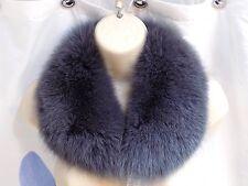 Blue grey black fox fur collar, #947