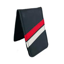 Sunfish black,red and white Leather Golf Scorecard & Yardage Book Holder / Cover