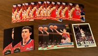 Tom Gugliotta Lot (50) w/ 32 Rookies, 12 Inserts, Metal, E-X, Topps Gold RC NCST